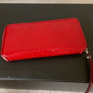 Handbags - Red patent wallet